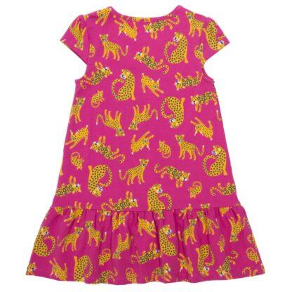 frill hem big cat baby dress