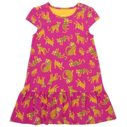 organic big cat baby dress