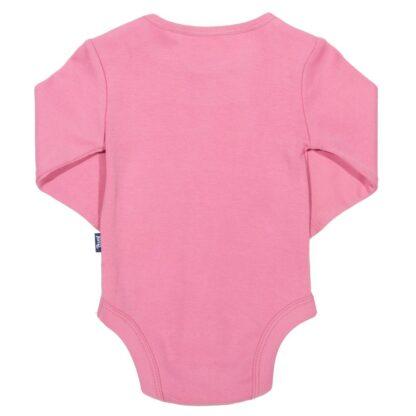 pretty pink heart baby bodysuit