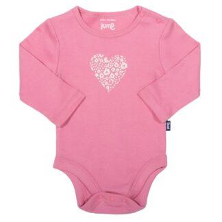pink heart baby bodysuit