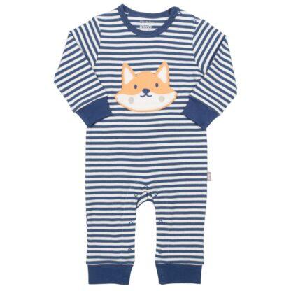 striped foxy baby romper