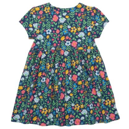 navy ss floral baby dress