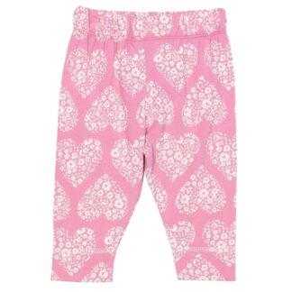pink hearts baby leggings