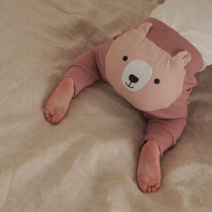pink autumn baby clothes joggers