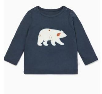 navy long sleeve bear t-shirt
