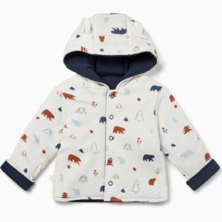 navy reversible baby coat