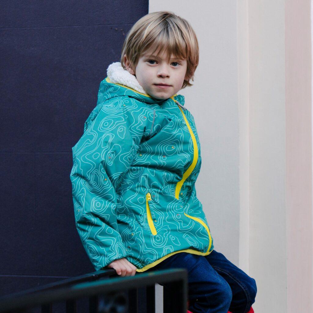 Blue kids' raincoat
