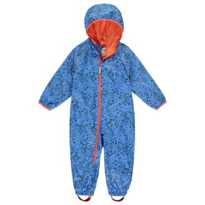 Vibrant blue enchanted recycled puddlesuit