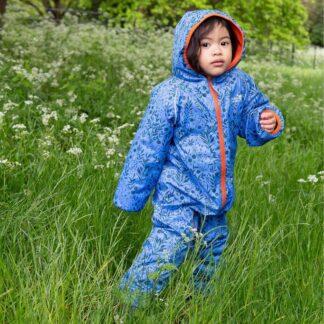 blue fleece lined puddle suit