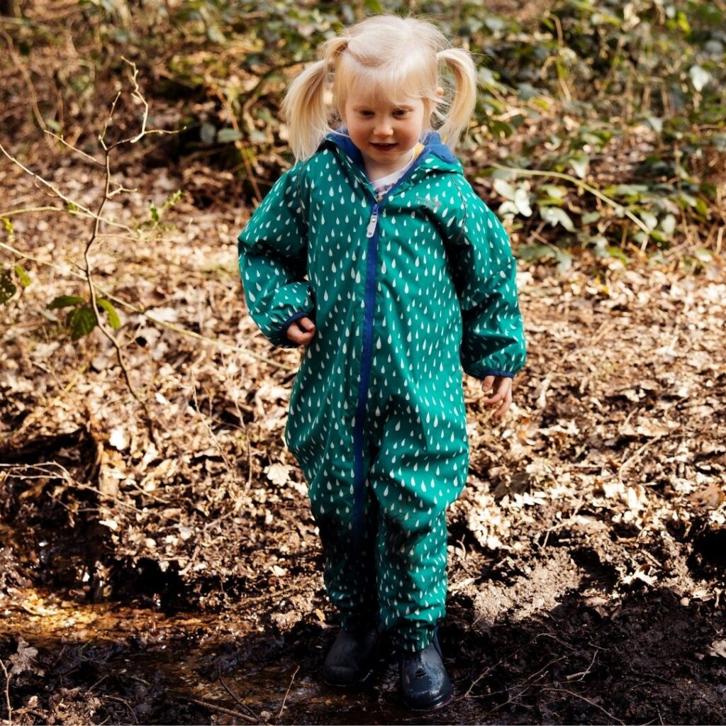Green puddlesuit
