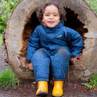 Ecowarm navy baby puddlesuit