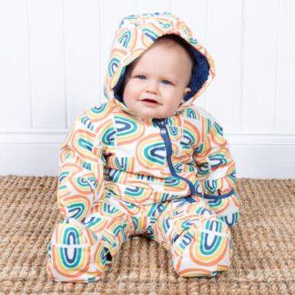 rainbow baby snowsuit