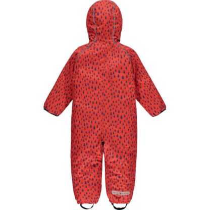 red raindrop baby puddle suit