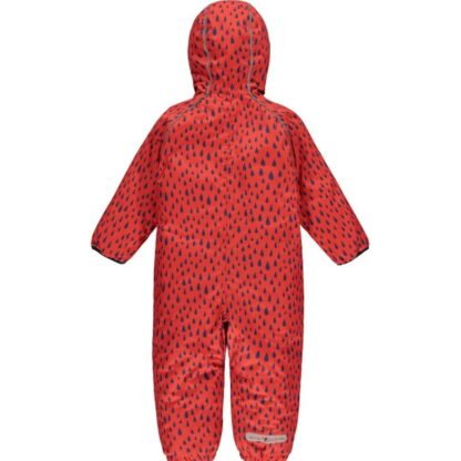 ecowarm red printed baby puddlesuit