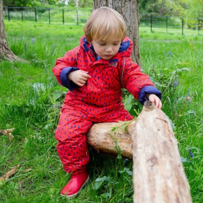 ecowarm red baby puddlesuit