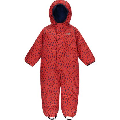 red raindrop insulated puddlesuit