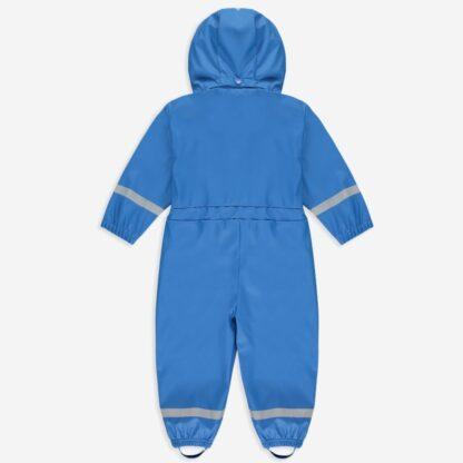 Blue unlined Rainy Day baby puddlesuit